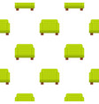 green armchair pattern flat vector image