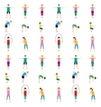 Gymnastics kids seamless pattern vector image