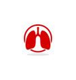 lung logo icon vector image