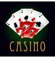 Luxury casino an gambling icon vector image