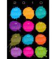 2010 splatter calendar vector image vector image