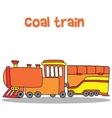 Collection transportation of coal train vector image