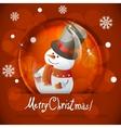 Christmas snow globe with snowman vector image