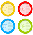 One two three four - progress icons vector image vector image