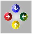 colorful arrow icon vector image