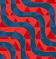 Retro 3D red and blue waves with overlaying vector image