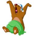 bear waking up vector image