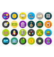 Banking round icons set vector image