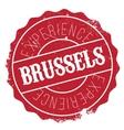 Brussels stamp rubber grunge vector image