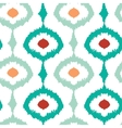 Colorful chain ikat seamless pattern background vector image