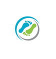 foot logo template vector image