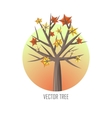 Maple Tree with Falling Leaves vector image
