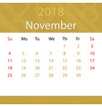 november 2018 calendar popular premium for vector image