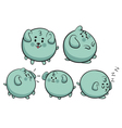 Round Dog Collection vector image