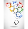 Watercolor Rings - abstract background vector image
