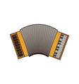 white background of accordion with thick contour vector image