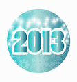 Happy new year 2013 card vector image vector image