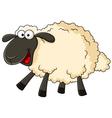 Cute sheep cartoon vector image vector image
