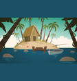 small tropical island vector image