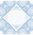 oriental blue blue 03 frame vector image