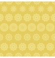 Yellow mustard abstract mandalas striped seamless vector image