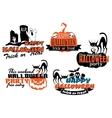 Orange and black Halloween banners vector image vector image