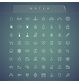 Water Thin Icons Set vector image