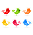 bird icons vector image vector image