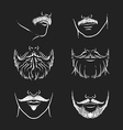 hipster mustache beard drawing face vector image