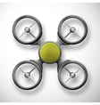 Isolated quadrocopter vector image