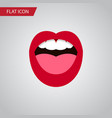isolated teeth flat icon tongue element vector image