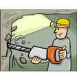 miner at work cartoon vector image