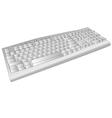 old computer keyboard vector image