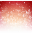 Snow fall with bokeh abstract red background eps10 vector image