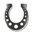 horse shoe luck icon vector image