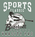 baseball pro vector image vector image