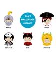 Set of halloween avatars for boys vector image