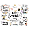 Valentines Day Callygraphic vector image vector image