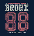Vintage bronx typography t-shirt graphics vector image