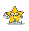 businessman star character cartoon style vector image