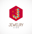 J letter logo template Jewelry sign vector image