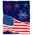 retro patriotic flag  firewor vector image