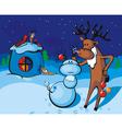 santas reindeer resting vector image vector image