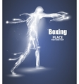 Abstract boxing from dot flying lightning vector image