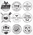 Grill Barbecue Burger Hot Dog Seafood Badges vector image