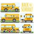 School bus set vector image