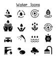 water icon set graphic design vector image