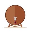 Wooden Barrel with Steel Tap vector image