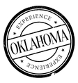 Oklahoma stamp rubber grunge vector image