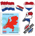 national colours of Netherlands vector image